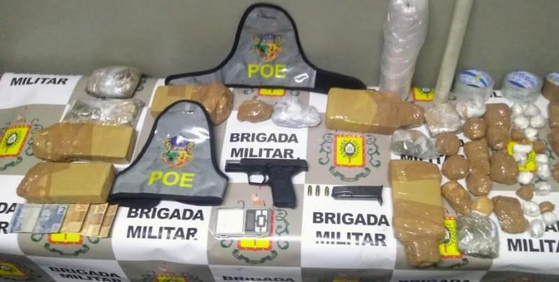 Material foi apreendido pela Brigada Militar